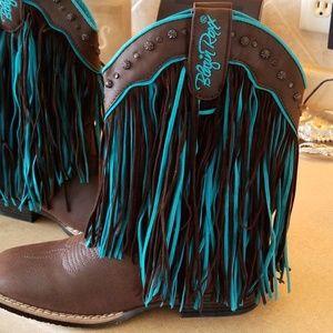 Blazin roxx fringe boots NWOT